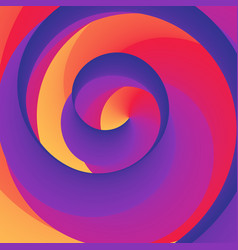 swirly spiral colorful rainbow background vector image vector image