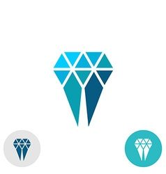 Diamond molar simple logo Triangle particles style vector image vector image