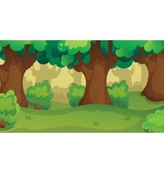 Game Forest Oakwood Landscape vector image