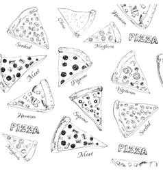 Hand drawn pizza vector image vector image