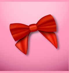 realistic red ribbon vector image vector image