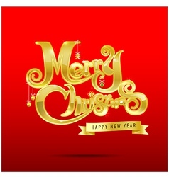 013 Merry Christmas text 003 vector image