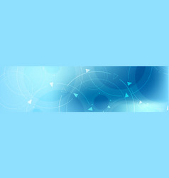 abstract blue minimal technology banner design vector image