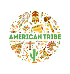 american tribe banner template native ethnic vector image