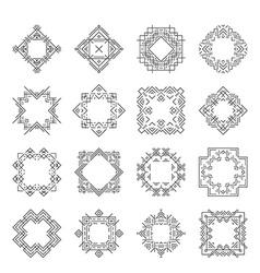 Aztec frames vector