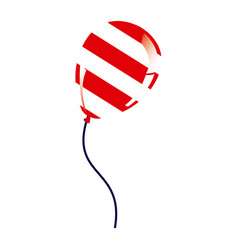 Balloon with stripes independece day icon vector