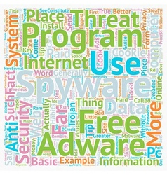 Basic Spyware Tips text background wordcloud vector
