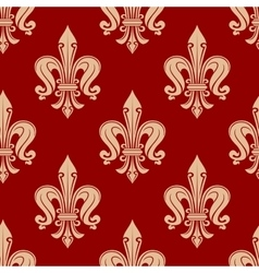 Beige and maroon floral seamless pattern vector image