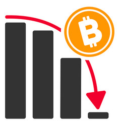 bitcoin epic fail chart flat icon vector image