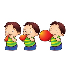 Blow up balloon vector
