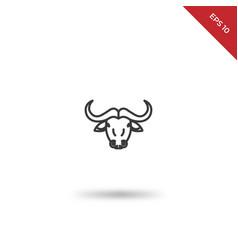 buffalo icon vector image