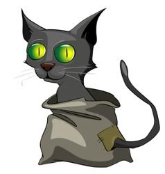 cartoon character cat vector image