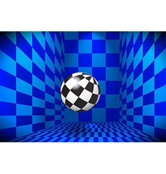 Checked ball in the room vector