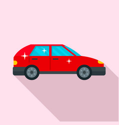 Clean car icon flat style vector