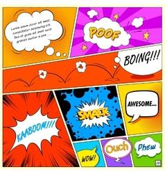 Comic Speech Bubble vector image
