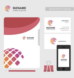 company brochure with logo also with card and vector image