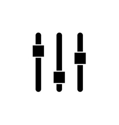 control panel settings system icon signs and vector image