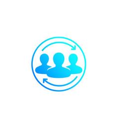 Customer retention returning clients vector