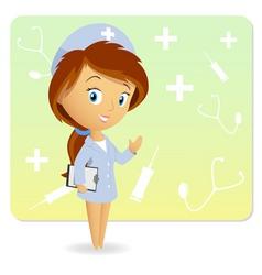 Cute nurse vector