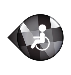 disable sign vector image