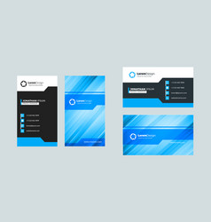 Double-sided creative business card template vector