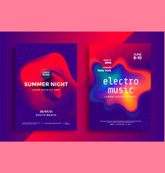 electronic music festival in duotone color design vector image