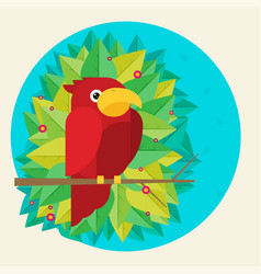 flat parrot colorful vector image