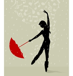 girl dances vector image