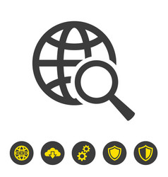 global search icon on white background vector image