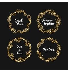 golden glitter frame vintage gold frames vector image