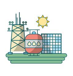 green energy industry cartoon vector image
