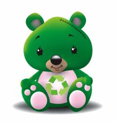 green teddy vector image