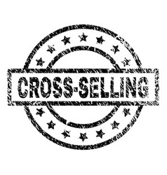 Grunge textured cross-selling stamp seal vector