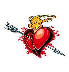 Heart design tattoo vector