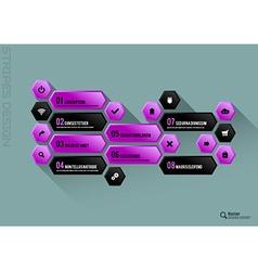 Hexagon Interface vector image