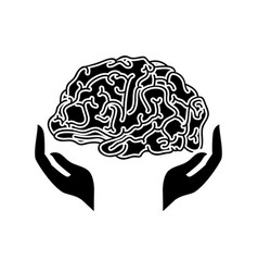 human brain icon vector image