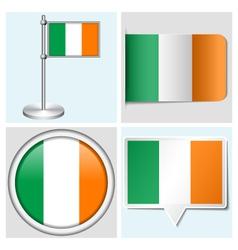 Ireland flag - sticker button label flagstaff vector