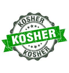 kosher stamp sign seal vector image vector image