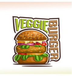 Logo for veggie burger vector