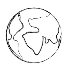 map of the world on blurred silhouette vector image