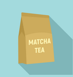 matcha tea package icon flat style vector image
