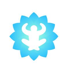 meditation yoga logo element on white vector image