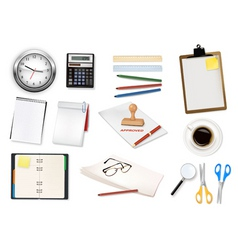 Mega office supplies set3 vector