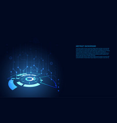 modern abstract technology concept digital vector image