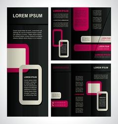 Modern brochure template vector image