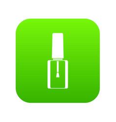 nail polish bottle icon digital green vector image