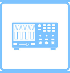 Oscilloscope icon vector