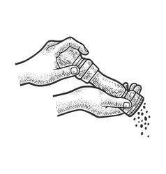 Pepper mill sketch vector