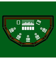 Poker table icon vector