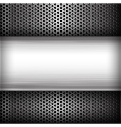Polished steel texture on hold metal abstract vector image